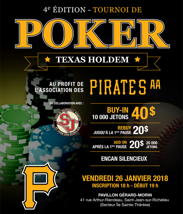 Tournoi Poker Pirates AA 2018